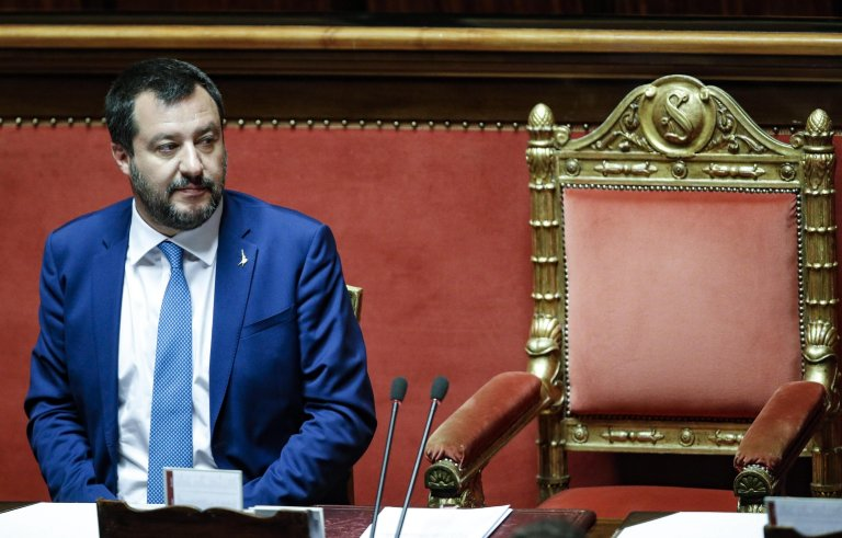 ANSA / وزير الداخلية الإيطالي ماتيو سالفيني. المصدر: أنسا/ جيوزيبي لامي.