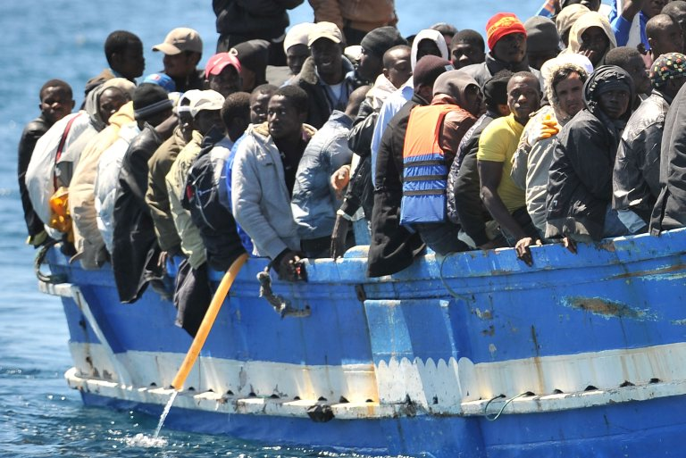 A boat with migrants on board arriving on the Italian island of Lampedusa, southern Italy. Credit: ANSA