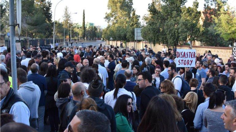 Photo d'une manifestation de soutien aux femmes étrangères à Chypre le 3 mai 2019. Crédit : George C. / DR
