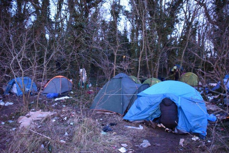 Image d'archives à Calais, en janvier 2018. Crédit : Mehdi Chebil
