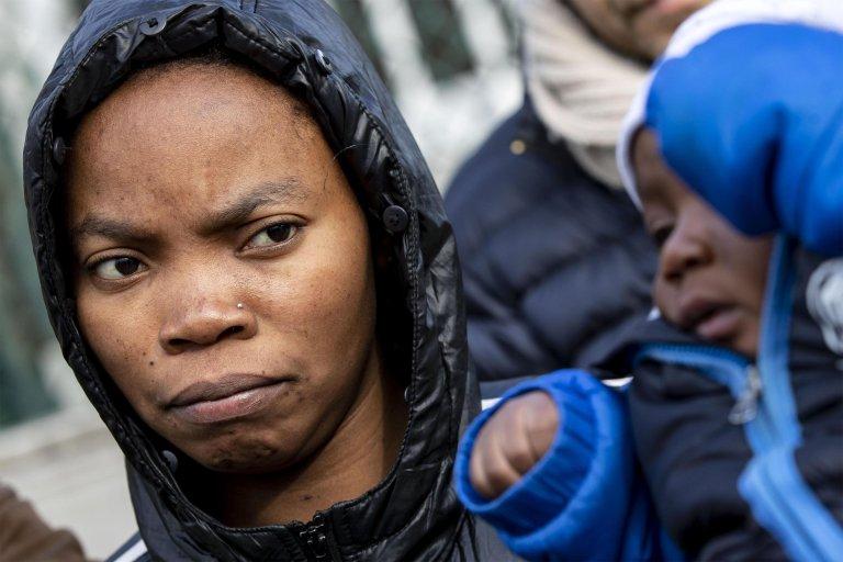 Blessing, a migrant mother evicted from the CARA of Castelnuovo di Porto leaves the structure in Castiglione di Porto, Italy, 23 January 2019 | Photo: ANSA/MASSIMO PERCOSSI