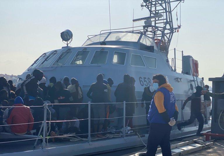 Près de 100 personnes ont été interceptées en mer et renvoyées en Libye dimanche (image d'archives). Crédit : OIM