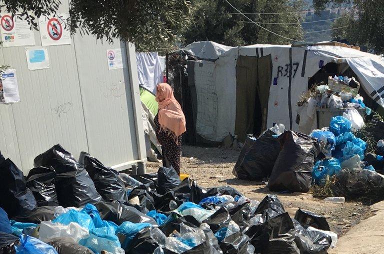مهاجران شرایط زندگی در کمپ موریا را « غیرانسانی» توصیف میکنند، اکتوبر ٢٠١٩. عکس از مهاجر نیوز
