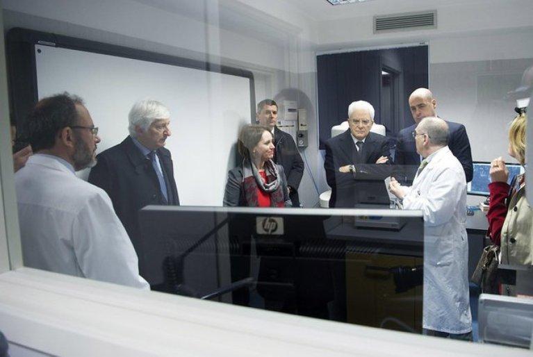 From file: Italian President Sergio Mattarella visits the INMP outpatient clinic in 2016   Photo: ANSA/Paolo Giandotti - Presidential Press Office