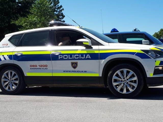 A Slovenian police car in Lipica, right after the border between Italy and Slovenia |  Photo: ANSA/CRISTIANA MISSORI