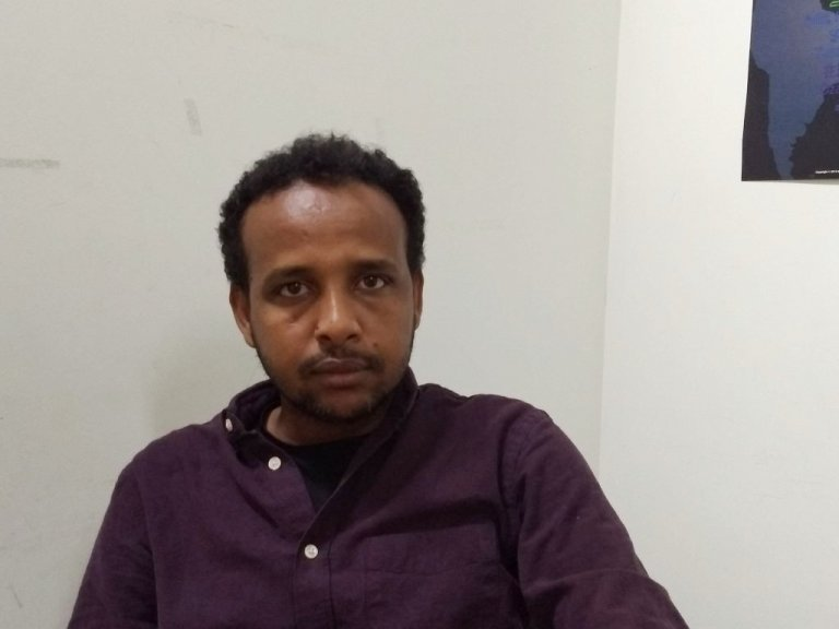 Abdelfeteh Mohamed, author and cultural mediator who migrated from Eritrea, via Libya to Italy. | Photo: Emma Wallis