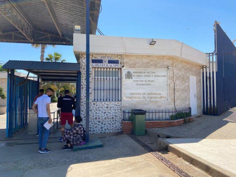 """بوابة مركز """"سيتي"""" لاستقبال المهاجرين في مليلية، 21 مايو\أيار 2021. مهاجر نيوز"""