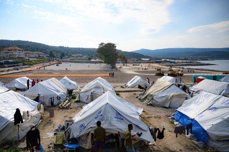 Karatepe camp on Lesbos island, Greece, 29 March 2021 | Photo: EPA/V. Papantonis