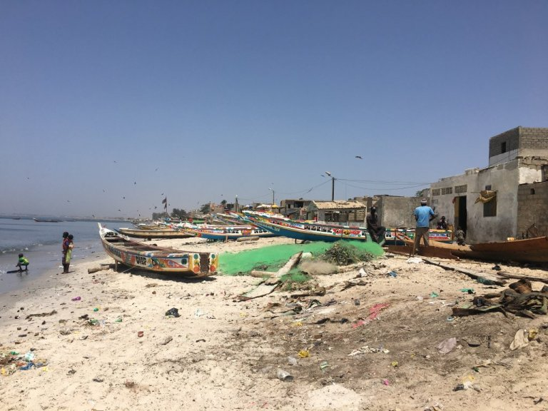 Le rivage de Thiaroye-sur-Mer, au Sénégal. Photo: Leslie Carretero/InfoMigrants