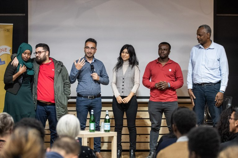 From file: Networking event of PartecipAzione - Actions for the Protection and Participation of Refugees in Naples, November 2019 | Photo: UNHCR/Cristiano Minichiello