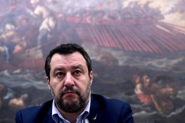 ماتيو سالفيني زعيم حزب الرابطة اليميني المتطرف. المصدر: أنسا