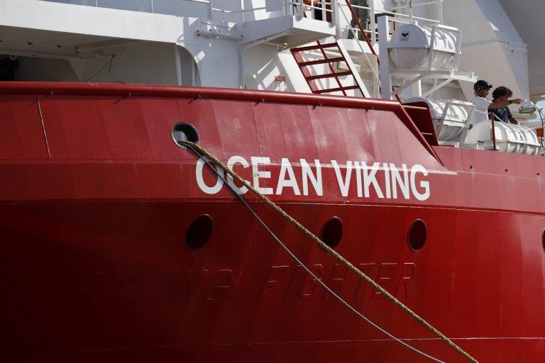 The NGO-run search and rescue ship Ocean Viking | PHOTO: Archive/ANSA/Francesco Ruta