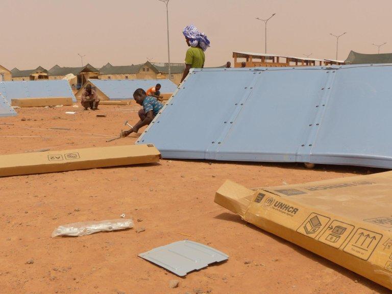 Catherine Guilyardi |Le camp du HCR à Hamdallaye, près de Niamey, au Niger, lors de son ouverture en avril 2019.