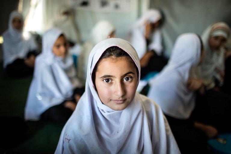 School girl in Surkhrod District, Nangarhar Province, Afghanistan, 10 April, 2019  © UNICEF/UN0309029/Kokic