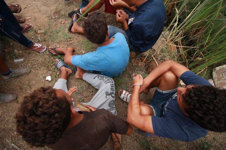 Des migrants à Melilla. Crédit : Picture-alliance