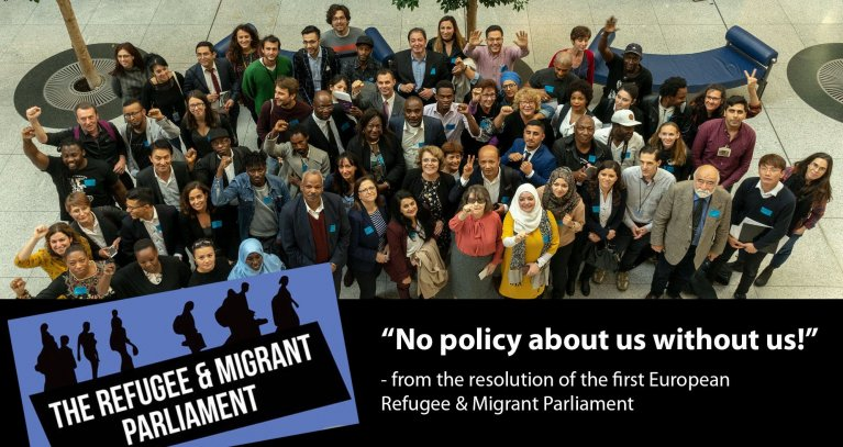 First European Refugee & Migrant Parliament | Source: Mosaico Refugees (@MosaicoRefugees on Twitter)