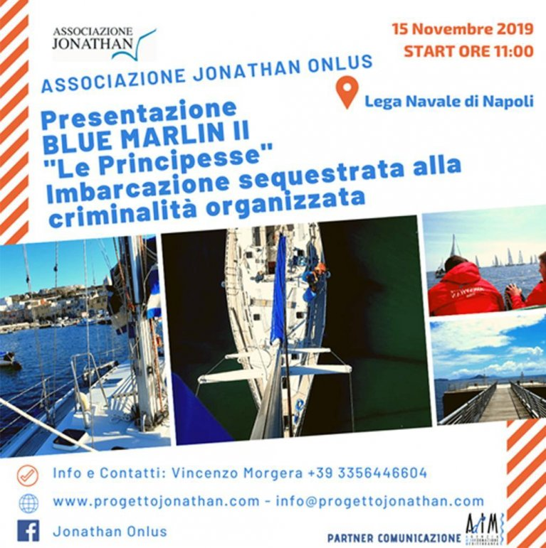 The poster of the presentation of the Blue Marlin II project | Photo: Associazione Jonathan