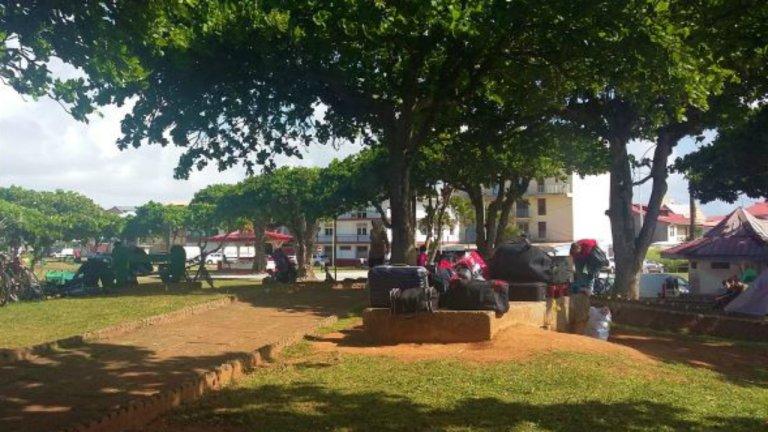 Un campement de demandeurs d'asile à Cayenne, en Guyane. Crédit : La Cimade