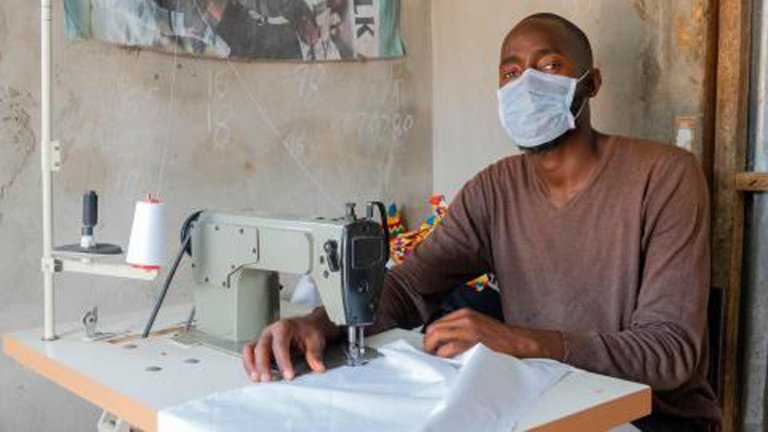 Picture shows Abdou, one of 20 migrants who have returned to Gambia and contributes to this reintegration initiative | Photo: CREDIT/IOM GAMBIA