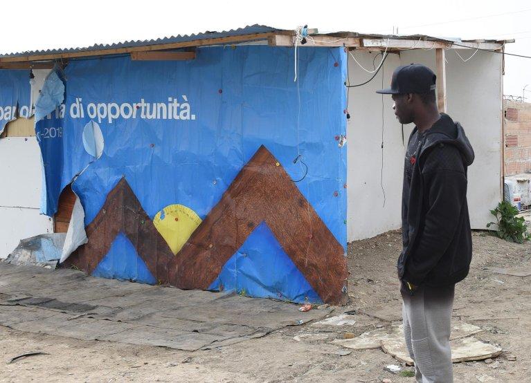 Archive image of the migrant camp in Borgo Mezzanone, a few kilometres from Foggia, 26 April 2019. ANSA / Franco Cautillo