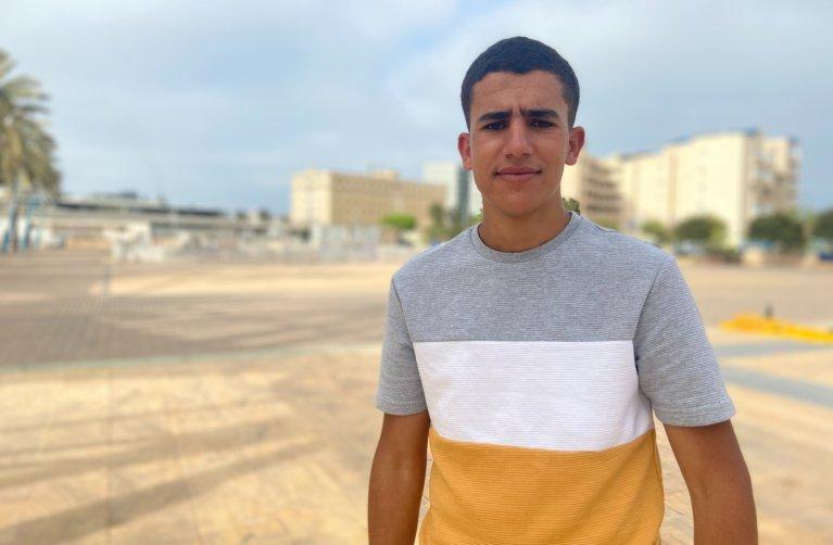 Ayoub, jeune Marocain de Melilla. crédit : InfoMigrants