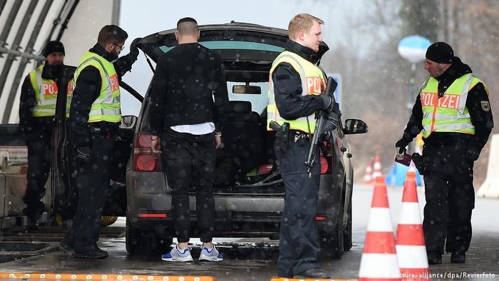 Border check at the German-Austrian border