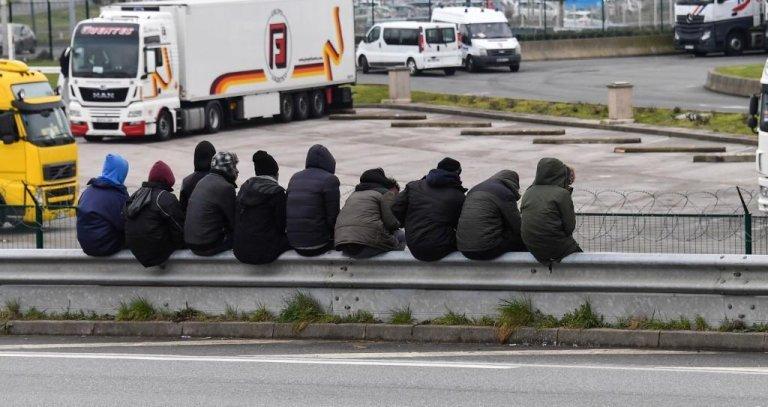 Denis Charlet / AFP |(illustration) Migrants à Calais, mars 2018.