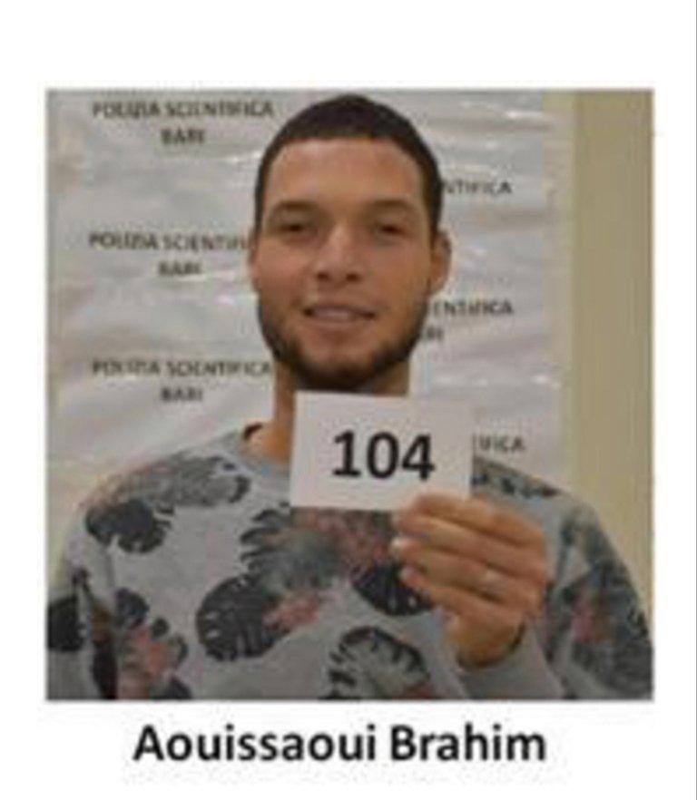 A photo of Brahim Aouissaoui taken by the Italian police | Photo: ANSA