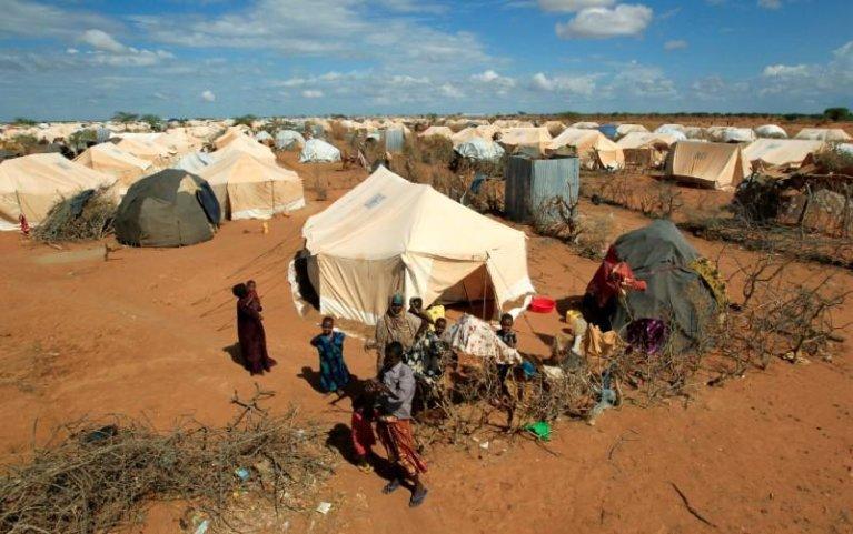 REUTERS/Thomas Mukoya  Le camp de réfugiés de Dadaab, près de la frontière somalienne, abritant, à ce jour, plus de 200 000 personnes.