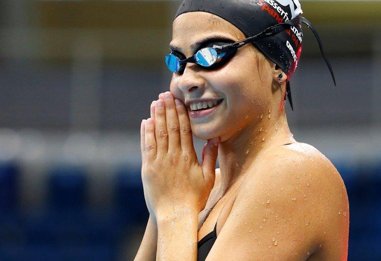 Yusra Mardini, one of the star athletes of the IOC Refugee team at Rio 2016 | Credit: Reuters/Michael Dalder
