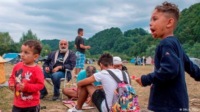 Refugees on new Balkan route