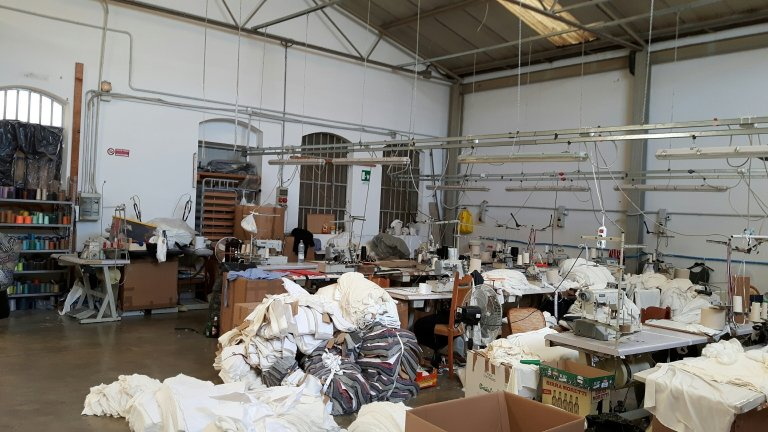 A Chinese company in Prato where foreign workers were illegally employed | Photo: ANSA/COMUNE DI PRATO