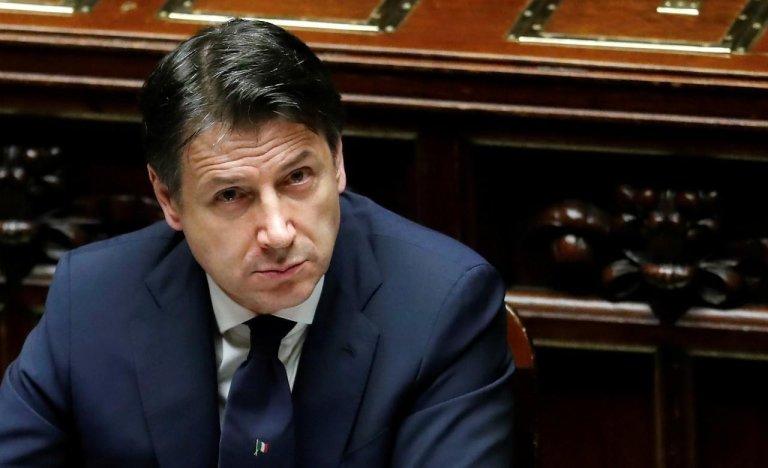 © رويترز. |رئيس الوزراء الإيطالي جوزيبي كونتي. روما 21 أبريل/نيسان 2020.