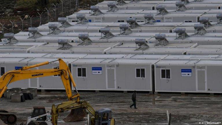 Camp construction site on Samos | Photo: Aris Messinis/AFP