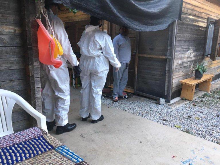 L'évacuation du camp de Pikpa, à Lesbos, a débuté vendredi 30 octobre 2020. Crédit : Twitter @lesvossolidarity
