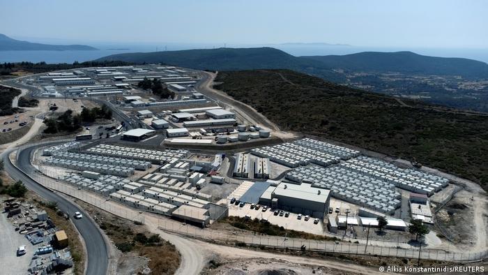 اردوگاه جدید پناهجویان در جزیره ساموس یونان (سپتمبر ۲۰۲۱)