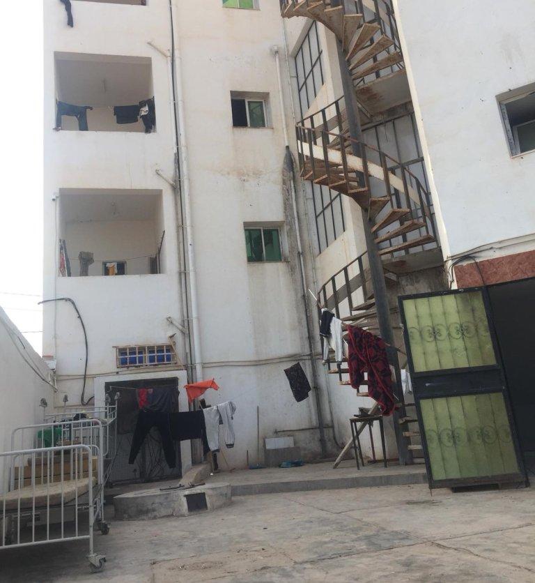 L'entrée du foyer de Médenine, en Tunisie. Crédit : InfoMigrants