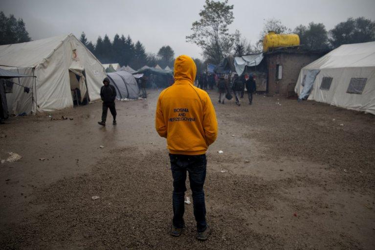 Afzul Musa, a Pakistani migrant, in Vucjak | Photo: Jelena Prtoric