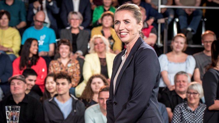 زعيمة الحزب الاشتراكي الديمقراطي الدنماركي ميس فردريكسن/رويترز