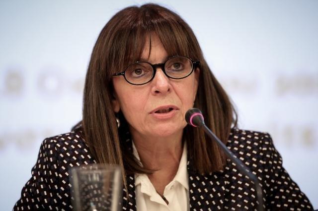 Ekaterini Sakellaropoulou est, depuis mars 2020, la première femme présidente en Grèce. Crédit : Reuters