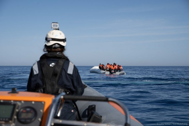 Sea-Watch rescued 165 migrants from distress at sea in two operations Wednesday, June 17, 2020 | Photo credit: Sea-Watch