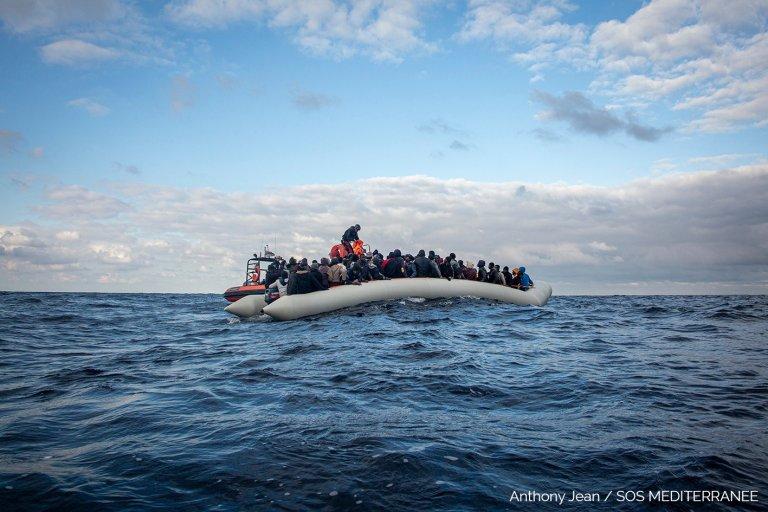 L'Ocean Viking a secouru 183 personnes lors de deux opérations de sauvetage. Crédit : SOS Méditerranée
