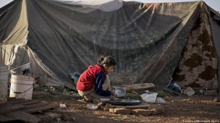 With nearly 80,000 residents, Zaatari camp in Jordan has evolved into a permanent settlement   Photo: AP Photo/Khalil Hamra