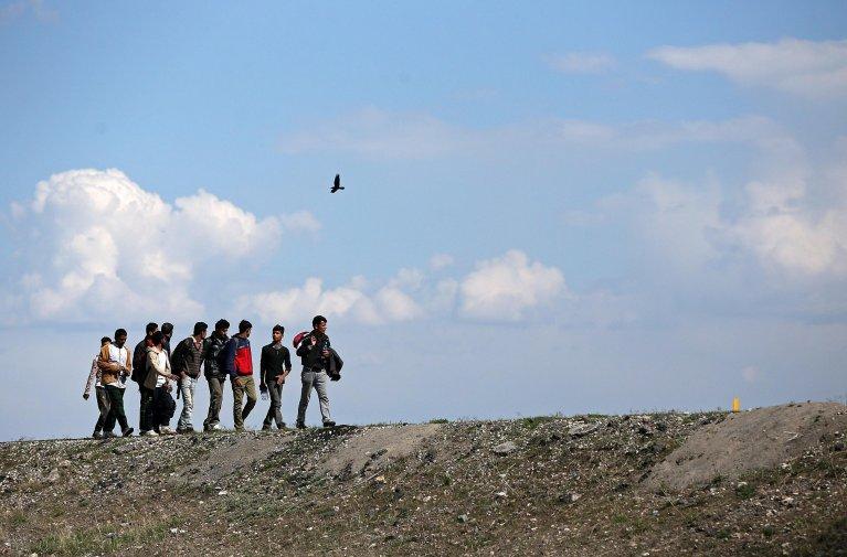 ANSA / لاجئون يصلون إلى تركيا عبر الطريق إلى الغرب في منطقة أرضروم. المصدر: إي بي إيه / إيردام شاهين.
