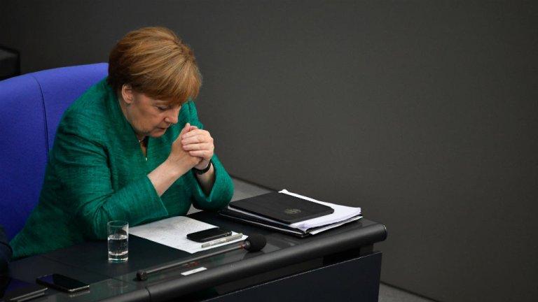 John Macdougall, AFP |La chancelière allemande, Angela Merkel, le 28 juin 2018 au Bundestag.