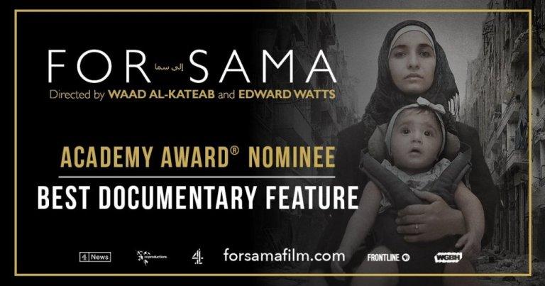 """L'affiche du film """"For Sama"""" de Waad Al Kateab et Edward Watts. Crédit : Action for Sama"""