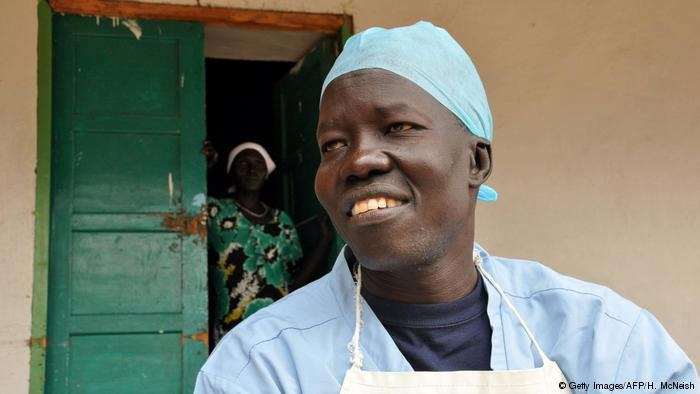 Dr Evan Atar Adaha is the medical director of his hospital in Bunj where about 200,000 people are provided medical service