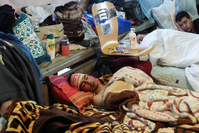 Les sans-papiers ont observé une grève de la faim durant deux mois. Crédit : Reuters