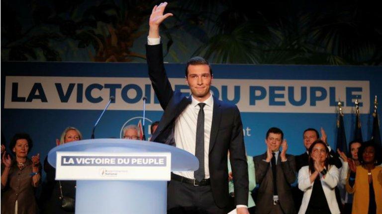 Jordan Bardella, tête de liste du Rassemblement national, a remporté les européennes en France. Charles Platiau/Reuters