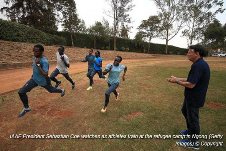 Training at the refugee camp in Ngong, Kenya